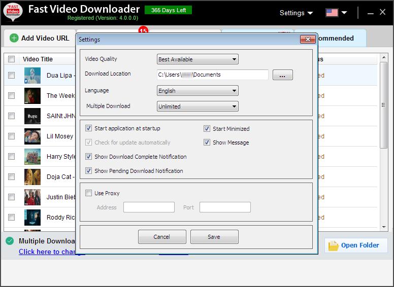 Internet Software, Fast Video Downloader Screenshot