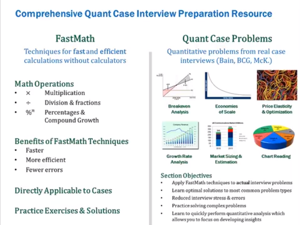 Hobby, Educational & Fun Software, FastMath Case Interview Preparation Screenshot