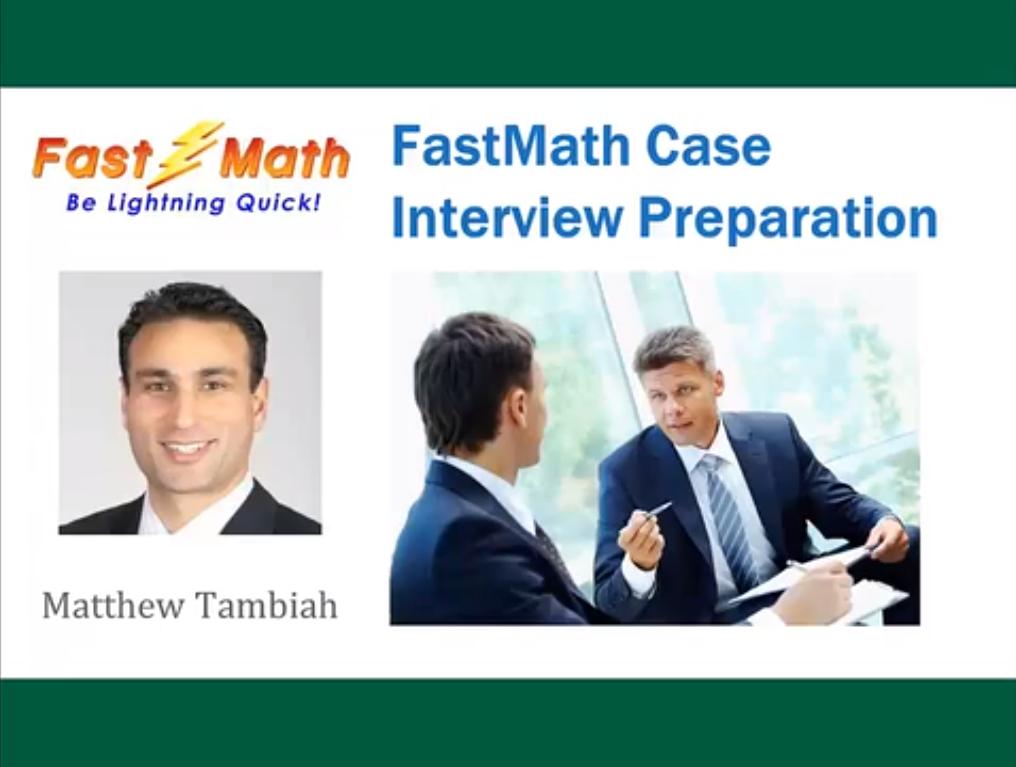 FastMath Case Interview Preparation Screenshot