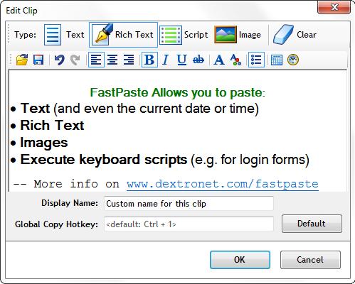 Clipboard Software Screenshot