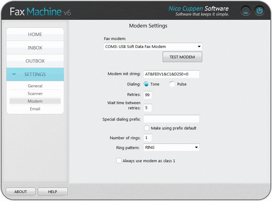 Fax Machine, Business & Finance Software Screenshot
