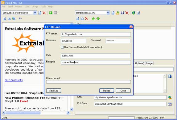 RSS Software Screenshot