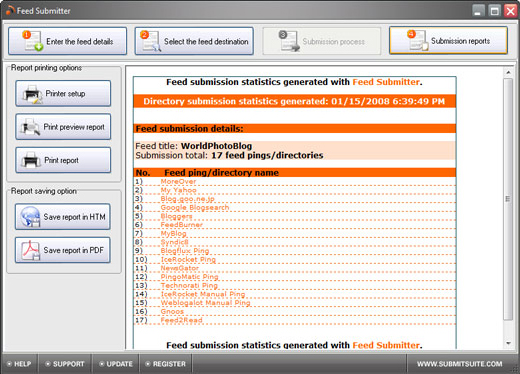 Feed Submitter - RSS Software Download for PC