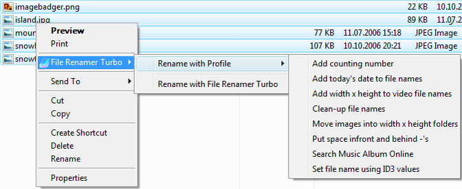 File Renamer Turbo, Software Utilities Screenshot