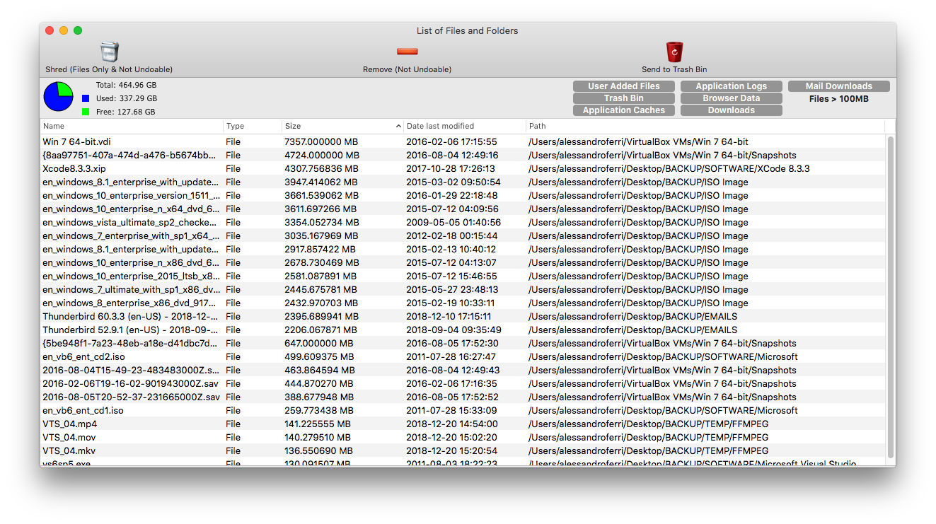 File Xterminator, File Management Software Screenshot