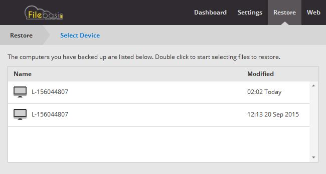 Filebasin Cloud Backup Lifetime Subscription, Security Software Screenshot