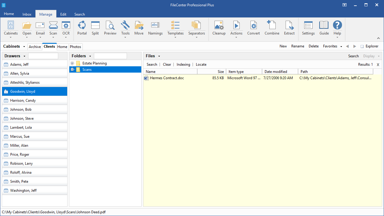 Productivity Software, FileCenter Screenshot