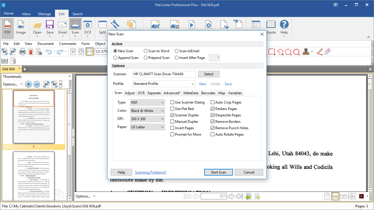 FileCenter, Productivity Software Screenshot
