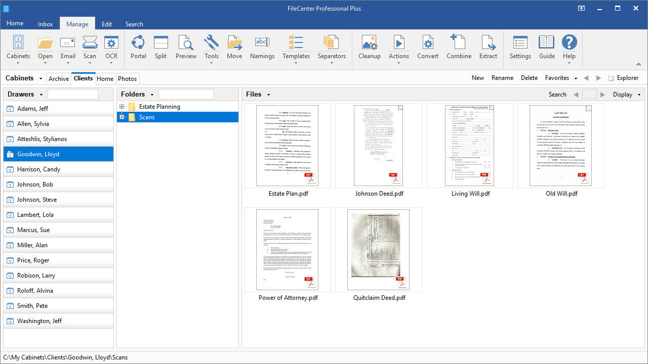 FileCenter, Productivity Software, Document Management Software Screenshot