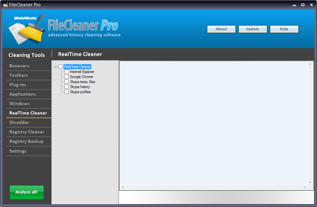 FileCleaner, Software Utilities Screenshot