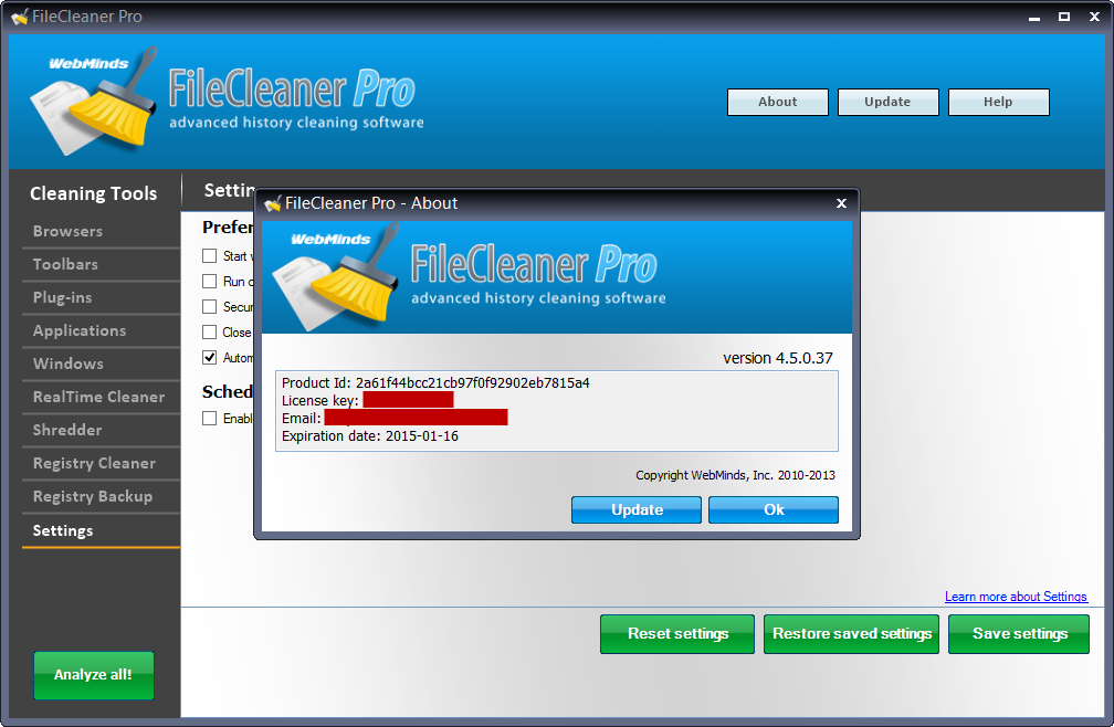 FileCleaner, Software Utilities, Files and Folders Software Screenshot