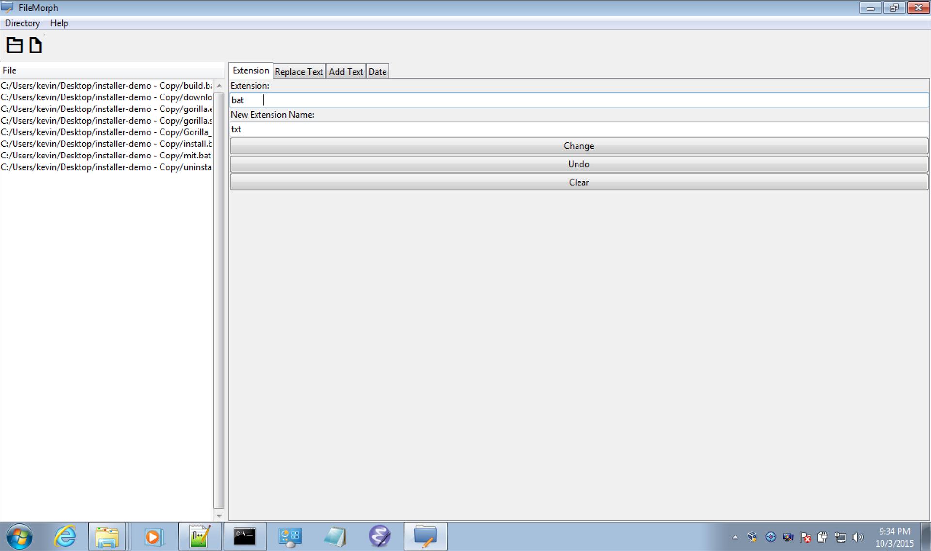 File Rename Software Screenshot