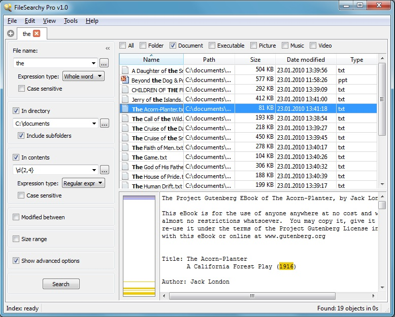 FileSearchy Pro, Software Utilities Screenshot