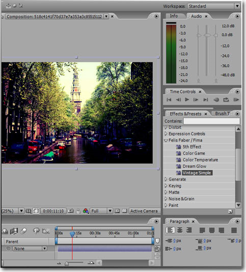 Fima Effects Pack, Video Editing Software Screenshot