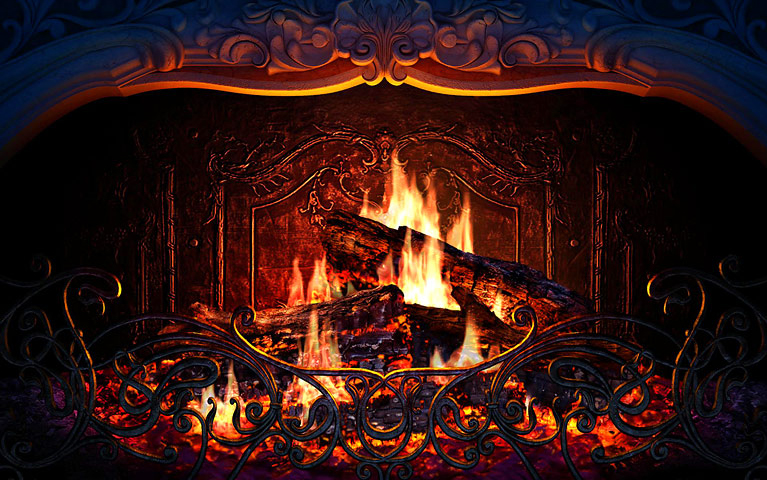 Fireplace Screensaver, Screensaver Software Screenshot