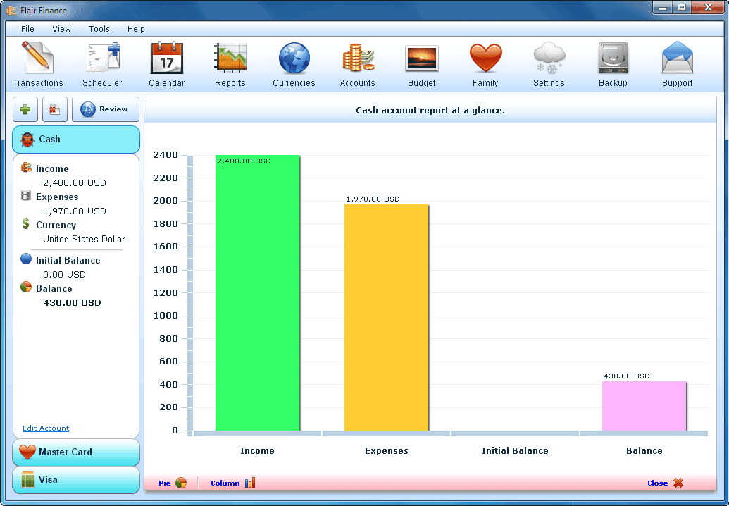 Finance Software Screenshot