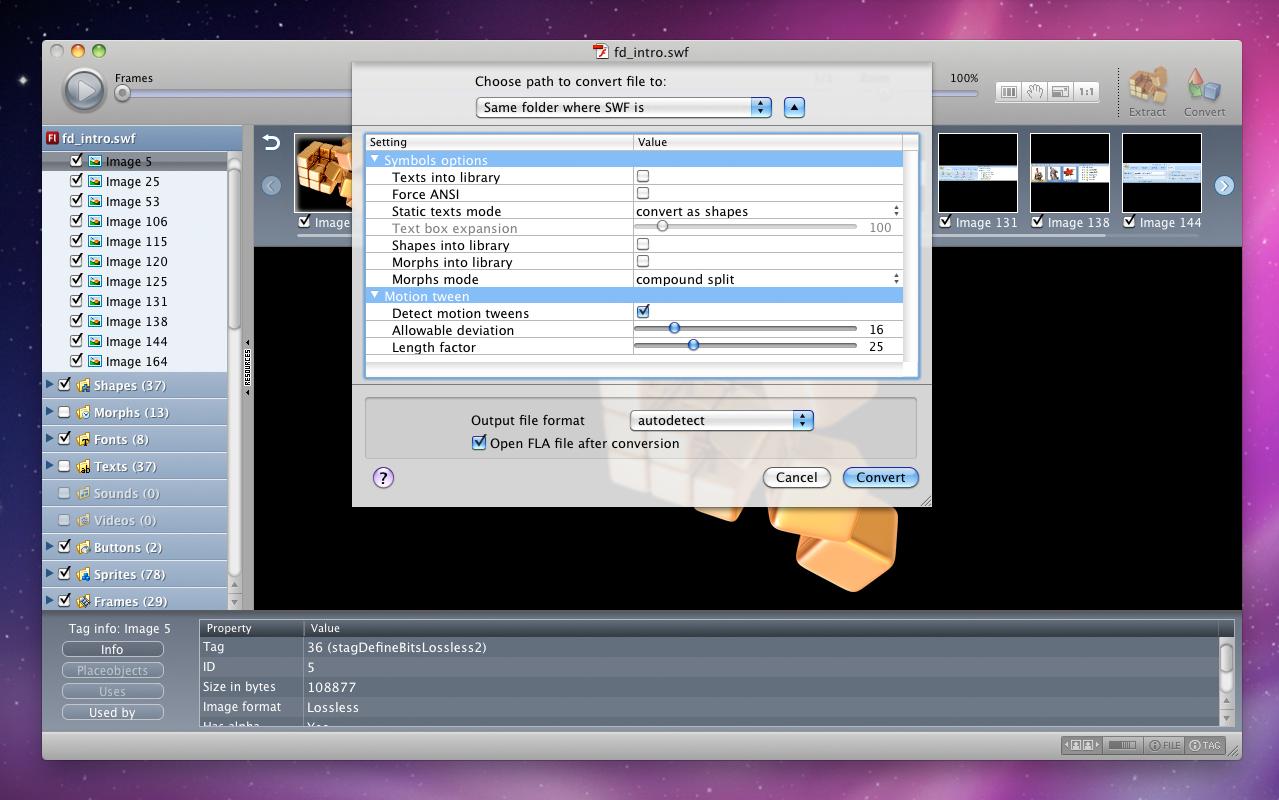 Development Software, Flash Decompiler Screenshot