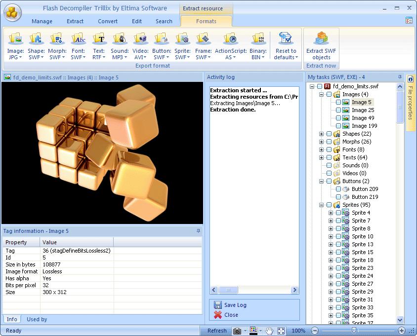 Flash Decompiler, Flash Software Screenshot
