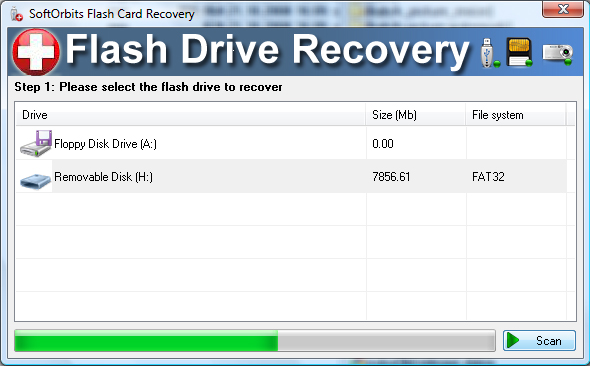 Flash Drive Recovery Screenshot