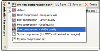 Flash Optimizer, Compression and Extraction Software Screenshot