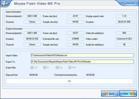 Development Software, Flash Video MX Pro 6 Screenshot
