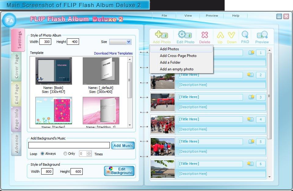 FLIP Flash Album Deluxe 2 Screenshot