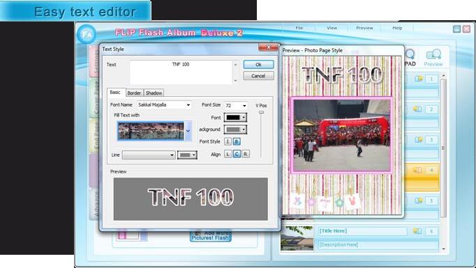 FLIP Flash Album Deluxe 2, Design, Photo & Graphics Software Screenshot