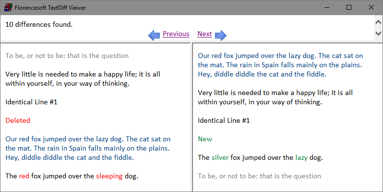 Compare Text With Florencesoft TextDiff, Document Management Software Screenshot