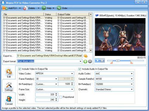 Video Software, FLV to Video Converter Pro 2 Screenshot