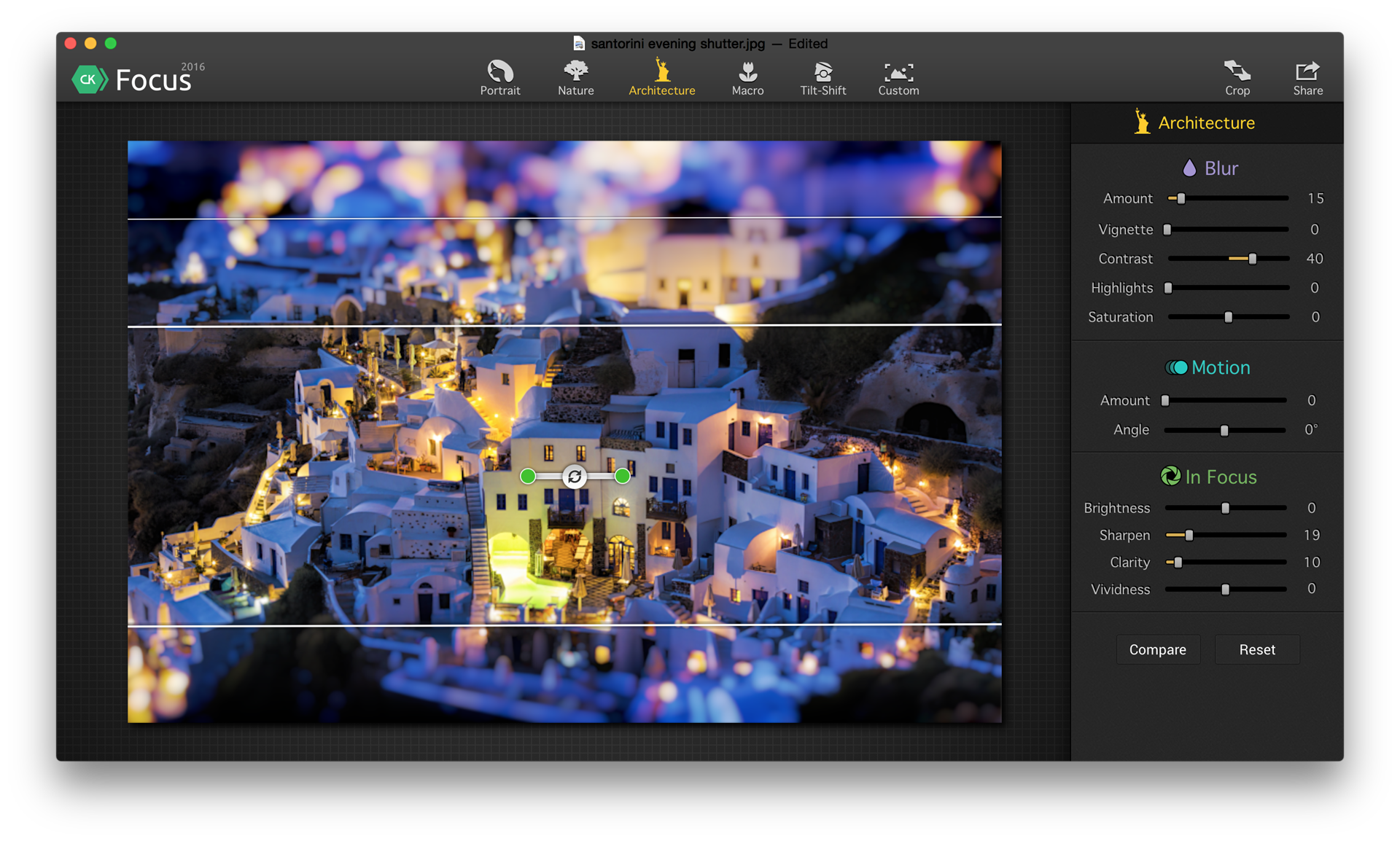 Focus CK, Photo Editing Software Screenshot