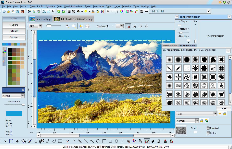 Focus Photoeditor Screenshot