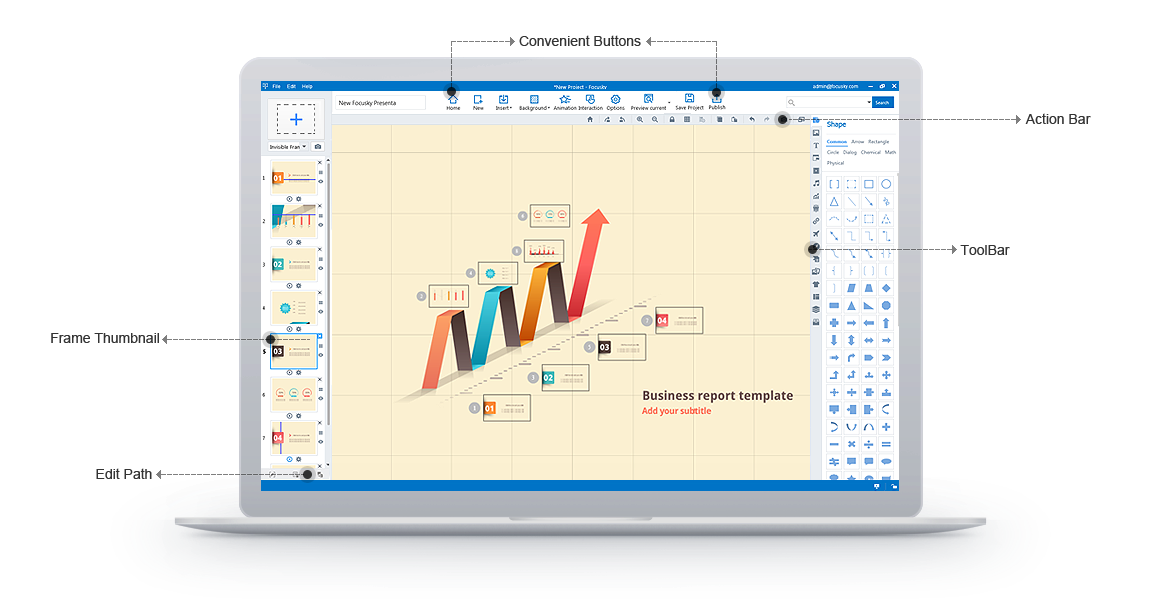 Focusky Professional, Presentation Software Screenshot