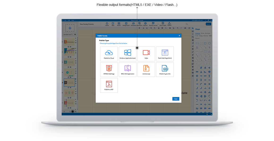 Presentation Software, Focusky Professional Screenshot