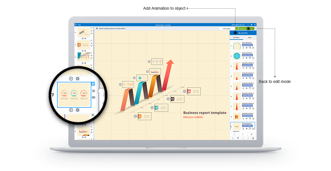 Focusky Professional, Business & Finance Software Screenshot