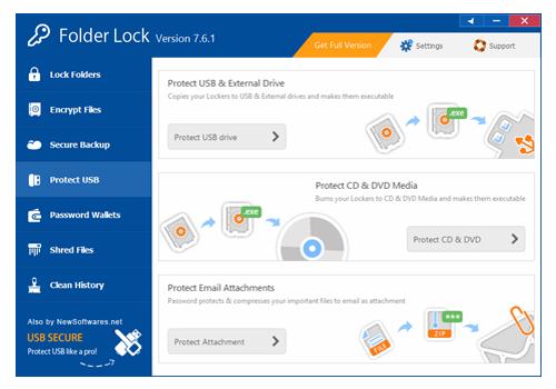Security Software, Folder Lock Screenshot