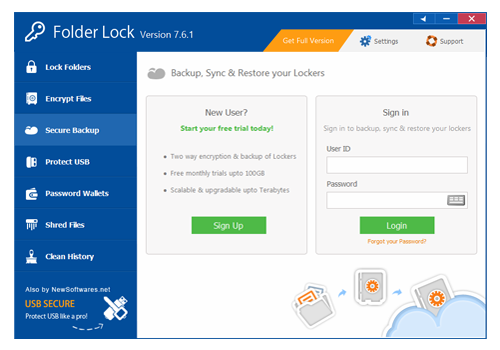 Folder Lock Screenshot 8
