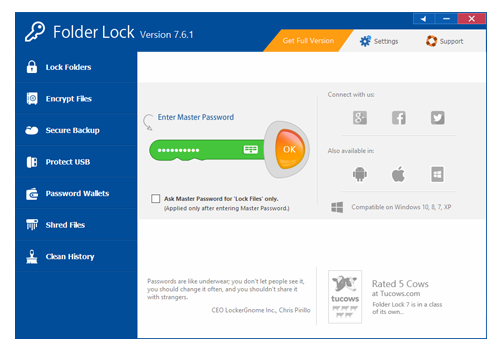 Folder Lock Screenshot