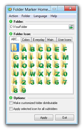 Folder Marker Home, Software Utilities, Folder Software Screenshot