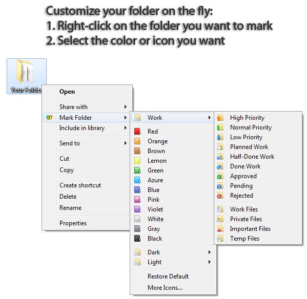 Folder Marker Home, Software Utilities Screenshot
