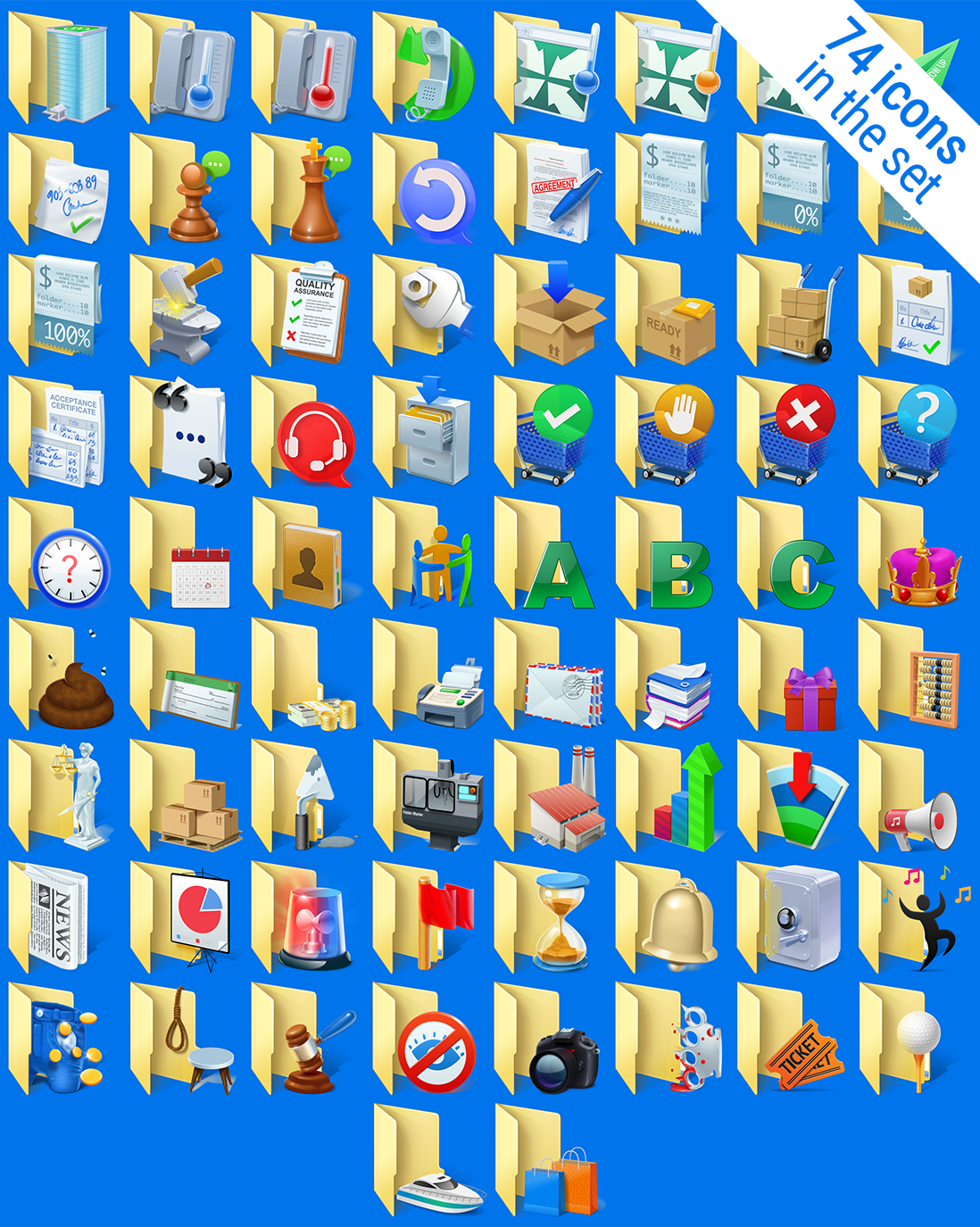 Folder Marker Pro + Business Folder Icons Bundle Screenshot