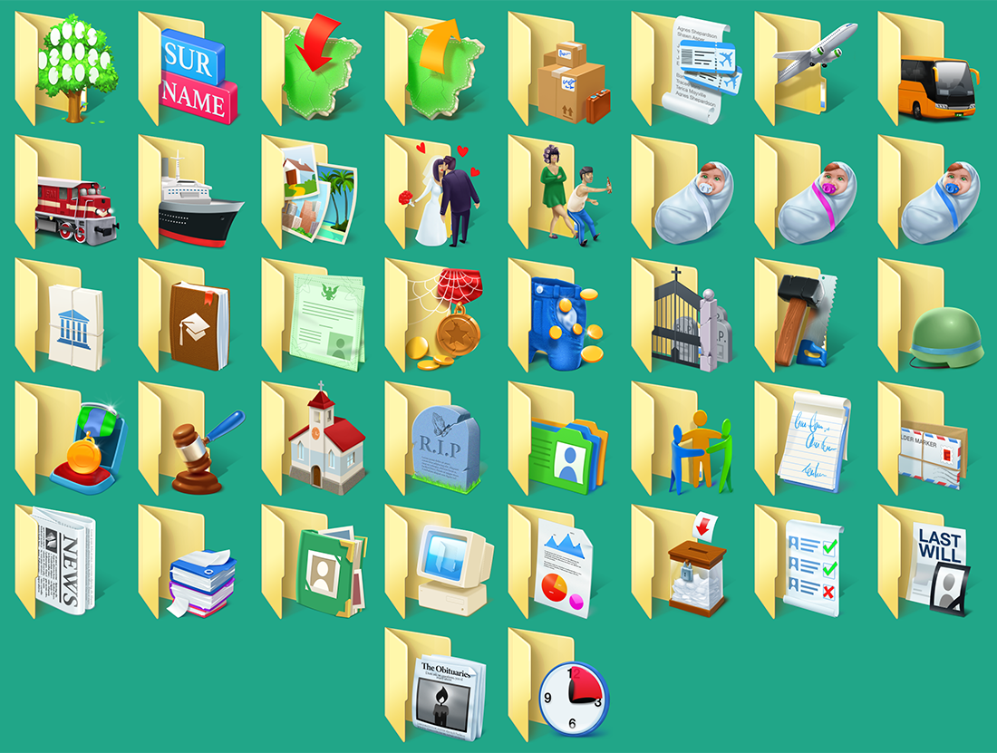 Folder Marker Pro + Genealogy Folder Icons Bundle Screenshot