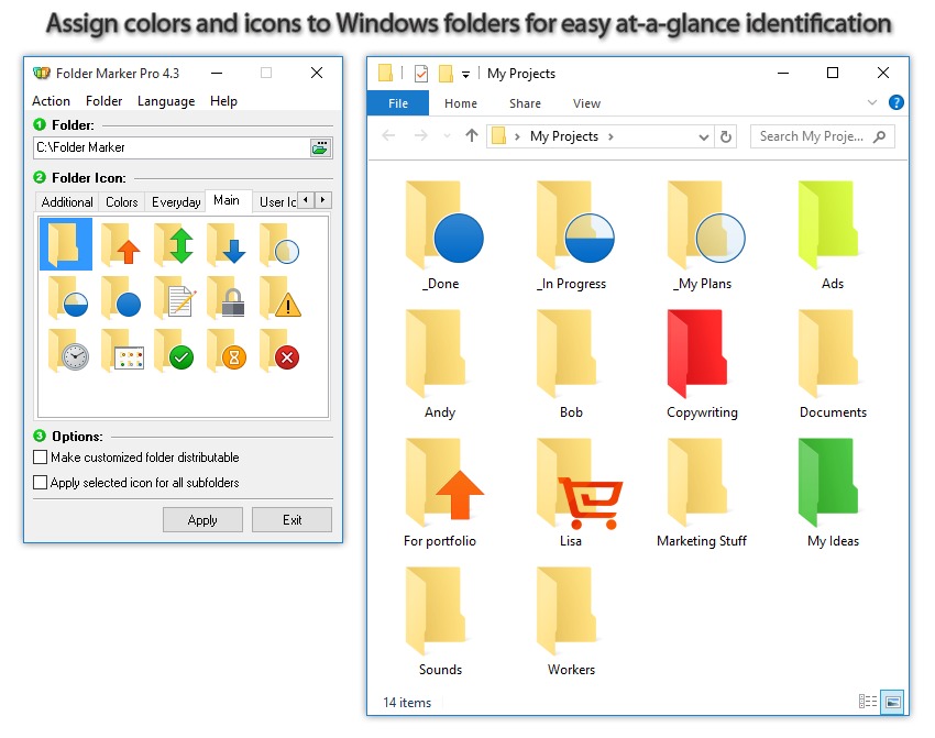 Design, Photo & Graphics Software, Folder Marker Pro + Music Folder Icons Bundle Screenshot
