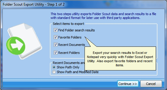 Folder Scout Professional, Software Utilities, Folder Software Screenshot