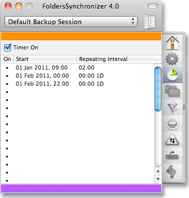 FoldersSynchronizer, Backup Files Software Screenshot