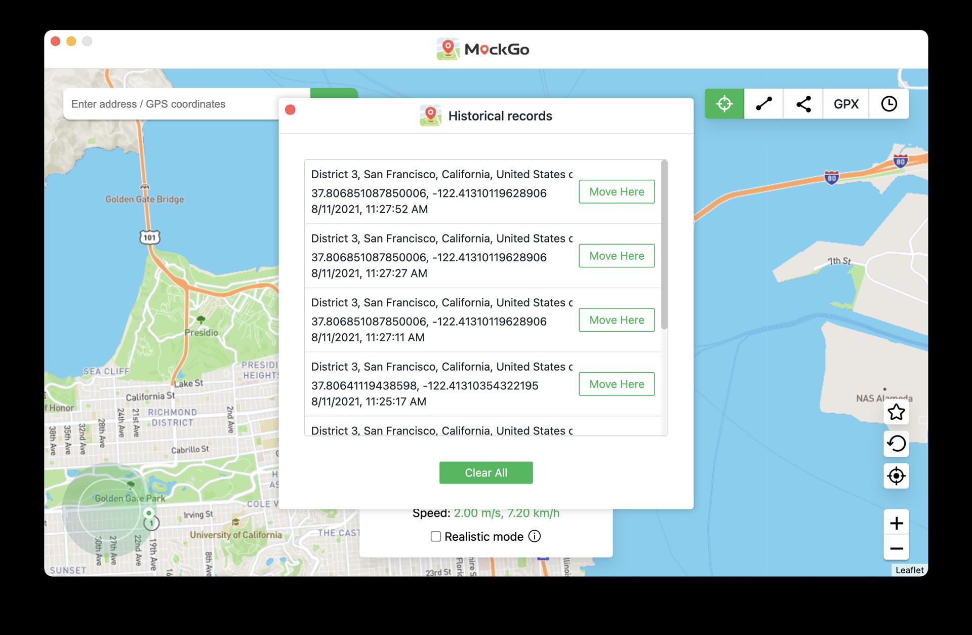 MockGo, Security Software, Privacy Software Screenshot