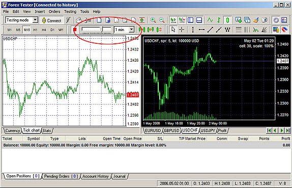Forex Tester Lite, Business & Finance Software Screenshot