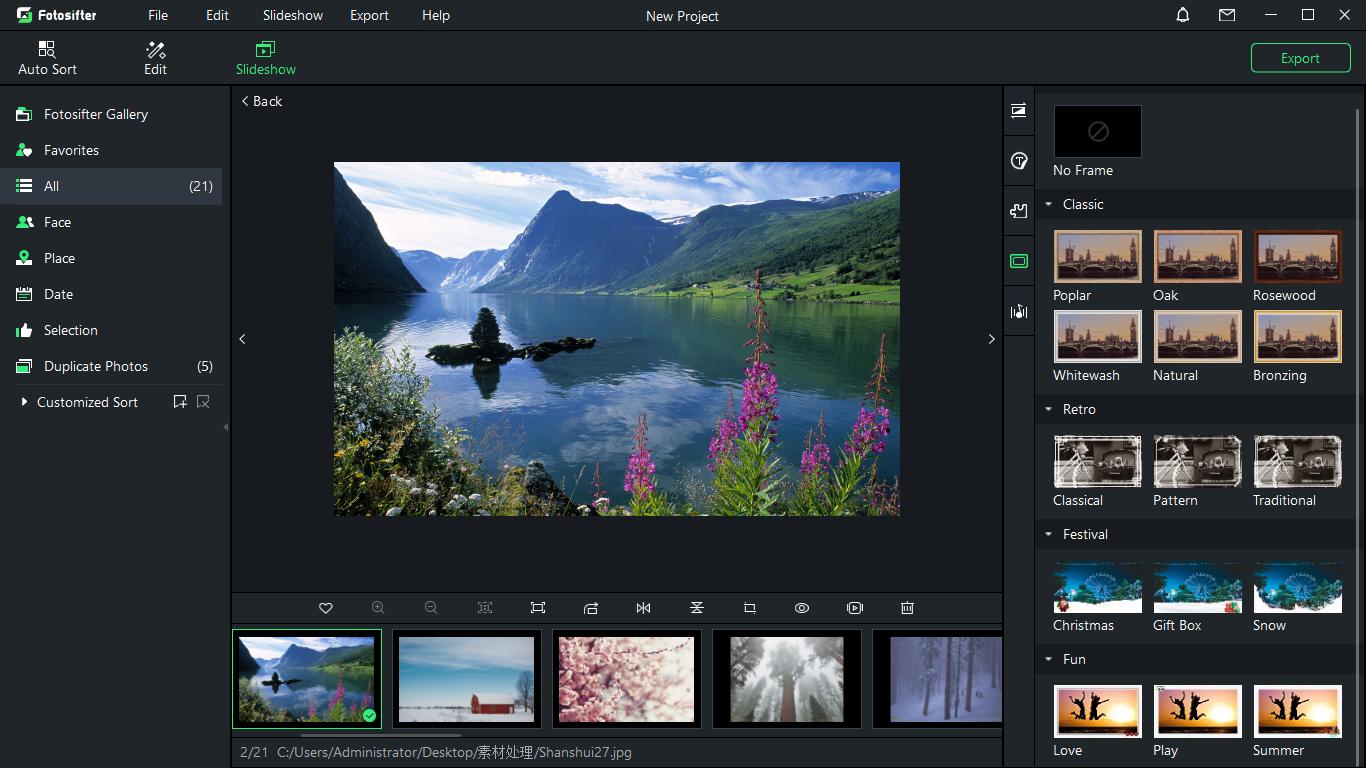 Fotosifter (Lifetime License), Photo Editing Software Screenshot