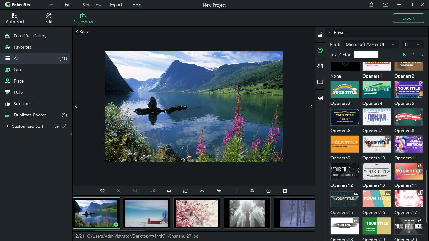 Fotosifter (Lifetime License), Design, Photo & Graphics Software Screenshot