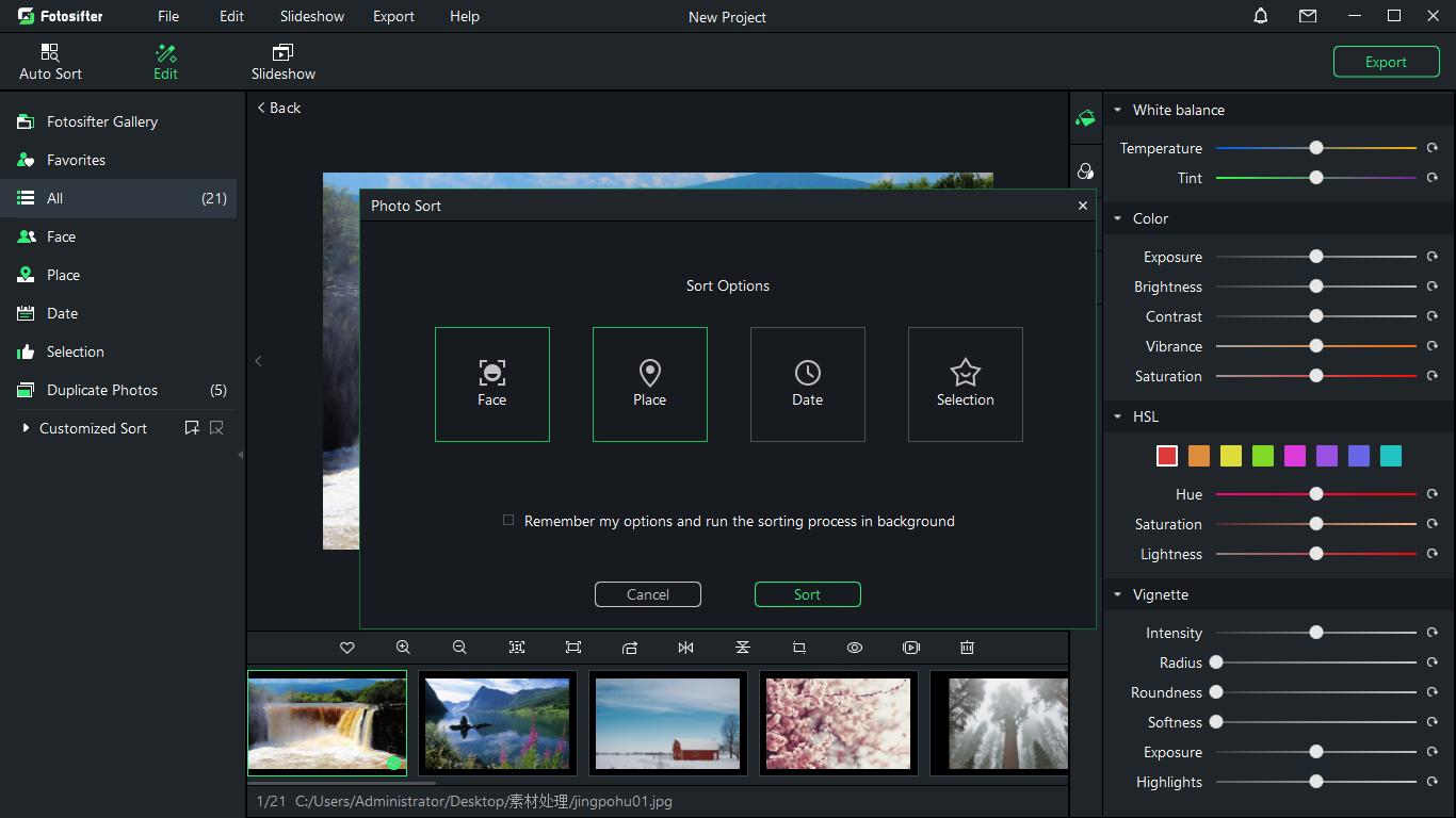 Photo Editing Software, Fotosifter (Lifetime License) Screenshot