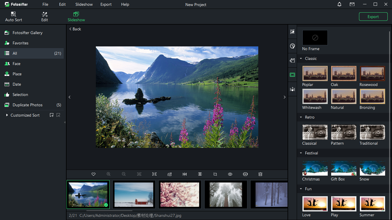 Fotosifter (1 Year License), Design, Photo & Graphics Software Screenshot